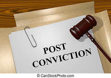 Post Conviction concept - Render illustration of Post...