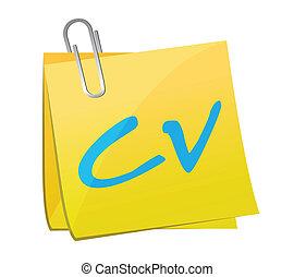 post cv illustration design