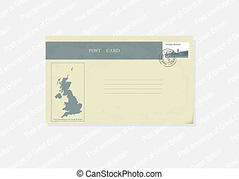 Post envelope in a retro style.