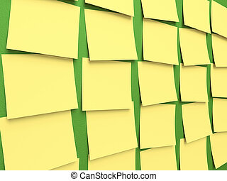 Post-It Blackboard - Several post-it stuck on the...