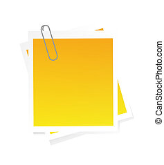 Post-it isolated on white - nice illustration of post-it...