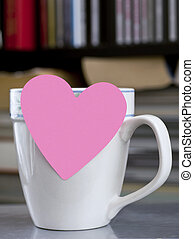 Post It Note On Coffee Cup
