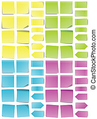 Post-it Note Set - A multicolored set of abstract post-it...