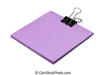 post it note with clip