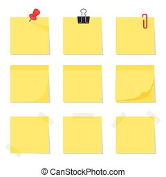 Post it notes, vector