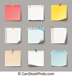Post it notes icons vector set - Post it notes icons ...