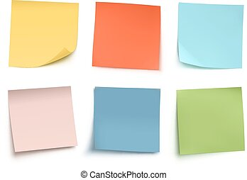 Post it notes - Vector illustration of multicolor post it...