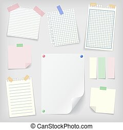 Post-it set of sticky notes and notebook paper - Post-it set...