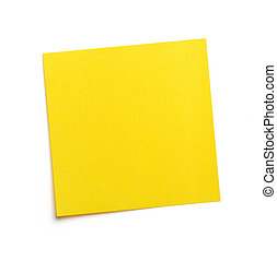 Post-it - Yellow blank post-it note
