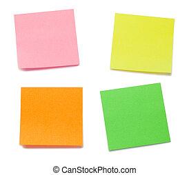 post-its, kleur