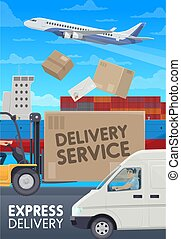 Post mail delivery service, logistics transport