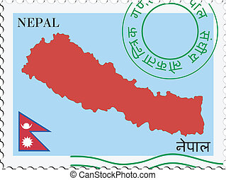post, nepal, to/from