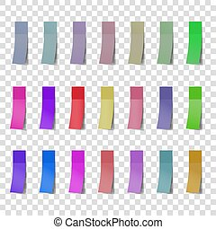 Post note color stickers isolated on