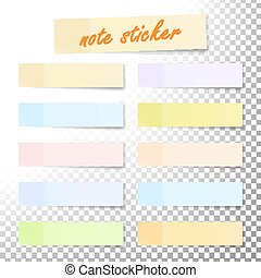 Post Note Sticker Vector. Paper Sticky Tape With Shadow. Adhesive Office Paper Tape. Isolated Realistic Illustration