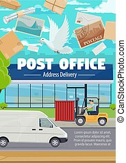 Post office and correspondence mail delivery