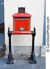post office and letter box in hungary