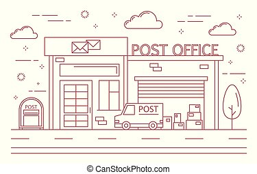 Post office building.