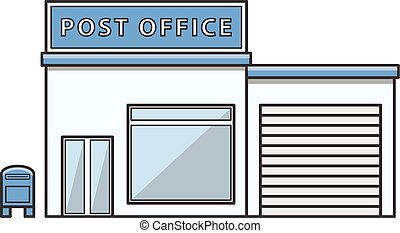 Post office  Illustration cartoon