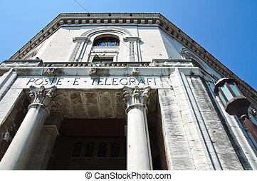 Post Office Palace. Ferrara. Emilia-Romagna. Italy.