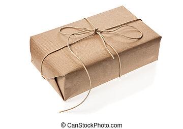 post, paket, hat, geliefert