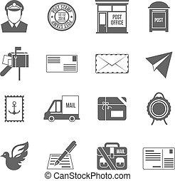 Post service icon black