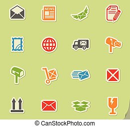 post service icon set