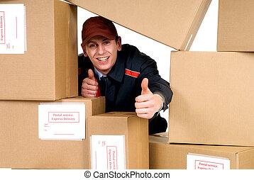 post service, leverans