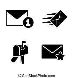 Post. Simple Related Vector Icons