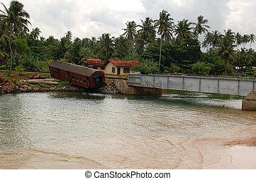 post-tsunami, נוף, ב, סרי לנקה