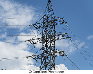 Post with electrical wires