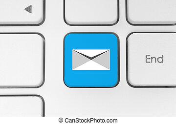 posta, bottone, tastiera