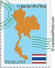 posta, to/from, tailandia