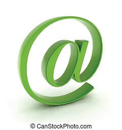 posta, vettore, icona, contatto