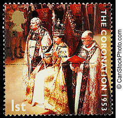 Postage Stamp 50th Anniversary of Queens Coronation - UNITED...