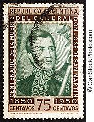 Postage stamp Argentina 1950 Jose de San Martin, General -...