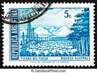 Postage stamp Argentina 1971 Tierra del Fuego, Argentina