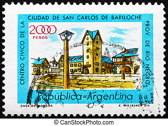 Postage stamp Argentina 1980 Civic Center, Bariloche, Rio...