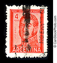 Postage stamp. - ARGENTINA - CIRCA 1980: A stamp printed in ...
