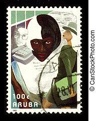 Postage stamp. - ARUBA-CIRCA 1991:A stamp printed in ARUBA ...
