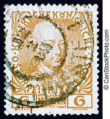 Postage stamp Austria 1908 Leopold II, Emperor of Austria - ...