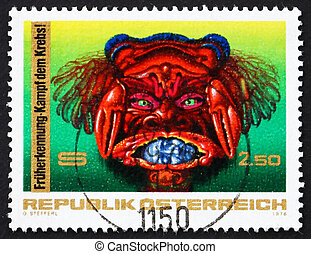 Postage stamp Austria 1976 Fight against Cancer