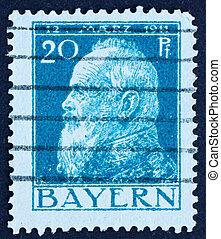 Postage stamp Bavaria, Germany 1911 Prince Regent Luitpold -...