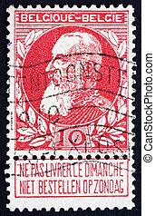 Postage stamp Belgium 1905 King Leopold II of Belgium - ...