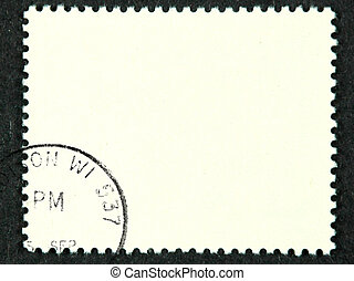 Postage stamp - Blank postage stamp with meter stamp
