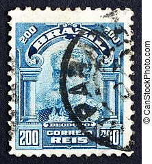 BRAZIL - CIRCA 1906: a stamp printed in the Brazil shows Manuel Deodoro da Fonseca, 1st President of Brazil, circa 1906