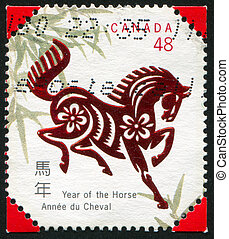 postage stamp - CANADA - CIRCA 2002: stamp printed by...