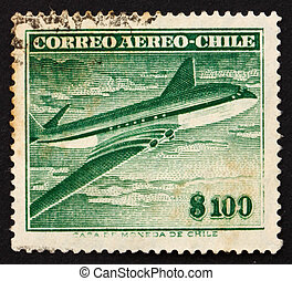 Postage stamp Chile 1955 Comet Air Liner - CHILE - CIRCA...