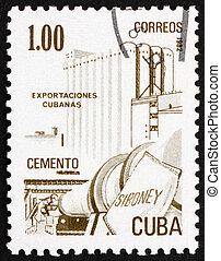 Postage stamp Cuba 1982 Cement, Cuban Export
