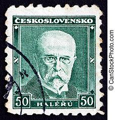Postage stamp Czechoslovakia 1930 Tomas Garrigue Masaryk - ...