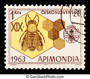 Postage Stamp - CZECHOSLOVAKIA - CIRCA 1963: A stamp printed...